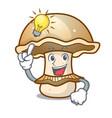 have an idea portobello mushroom mascot cartoon vector image vector image