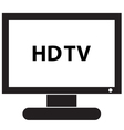 HD TV Icon vector image