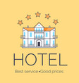 hotel five stars icon vector image vector image