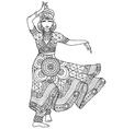 Indian dancer in a patterned dress vector image