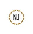 initial letter nj elegance creative logo vector image vector image