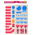 Labels set for infographics vector image