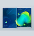 liquid abstract cover background design fluid vector image vector image