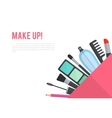 Make up flat with lipstick vector image vector image