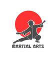 martial arts logo vector image