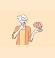 mental health elderly people concept vector image