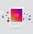 mockup social network interface social media vector image
