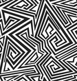 monochrome spiral lines seamless pattern vector image