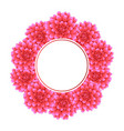 pink dahlia banner wreath style 2 vector image vector image