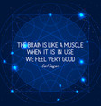 science quote on space geometric background vector image vector image