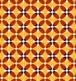 Seamless retro yellow pattern vector image