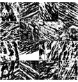 set black and white grunge texture vector image