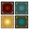 Set of Vintage radial ornaments vector image