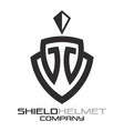 shield helmet logo vector image