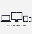 smartphone tablet laptop and desktop computer vector image vector image