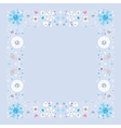 snowflakes border winter frame design element vector image vector image