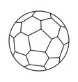 Soccer ball icon outline style vector image vector image