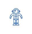spaceman line icon concept spaceman flat vector image
