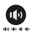 speaker symbol sound volume icons set vector image