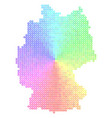 spectral germany map vector image vector image