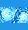 splash a water drop waves from the rain flat vector image