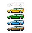 Station wagon woodie vector image