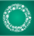 the wreath snowflakes new year christmas frame vector image vector image