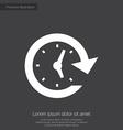 time premium icon white on dark background vector image vector image