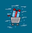 transport global logistic cartoon vector image vector image