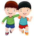 Two boys have fun vector image