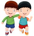 Two boys have fun vector image