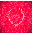 Valentine crystal love vector image vector image
