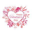 valentines day heart frame with collection of vector image