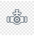 valve concept linear icon isolated on transparent vector image