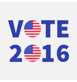 vote 2016 text blue badge button icon vector image vector image