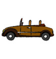 wedding car convertible old fashion style vector image vector image