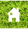 White house on Leaf background EPS10 vector image