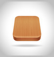 wooden app icon on the gradient background vector image vector image