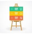 Wooden easel option banner vector image vector image