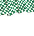 checkered racing flag on top vector image