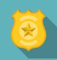 police badge flat design vector image
