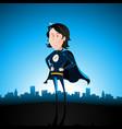 cartoon blue super lady vector image