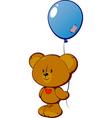 teddy with balloon vector image