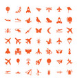 49 fly icons vector image vector image