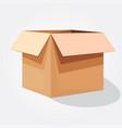 a cardboard box vector image vector image