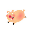 a nice cartoon pig the is isolated on a white vector image vector image