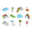 aqua park element set isometric view vector image vector image