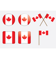 badges with Canadian flag vector image vector image