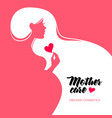 beautiful pregnant profile mother silhouette vector image vector image