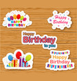 Birthday card on white paper vector image vector image